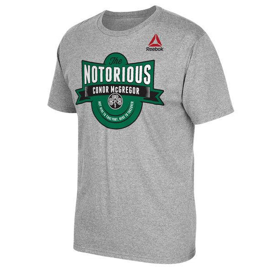 Conor McGregor UFC Reebok Notorious McGregor Brand T-Shirt - Grey