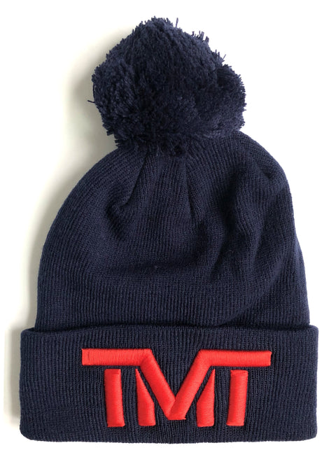 TMT - ON TOP II BEANIE HAT - NAVY/RED