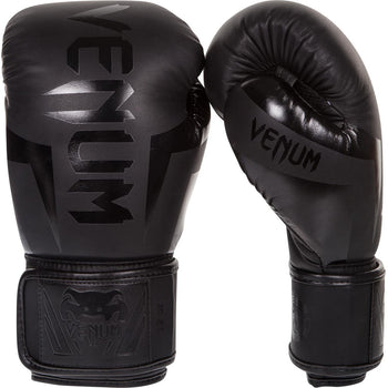 Venum Elite Boxing Gloves Neon Black/Black