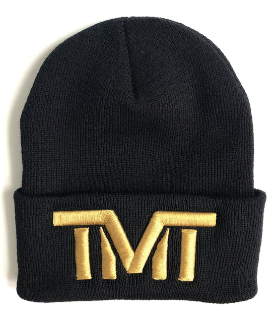 TMT - ON TOP BEANIE HAT - BLACK/GOLD