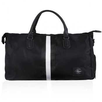TATAMI BLACK STRIPE DUFFEL BAG