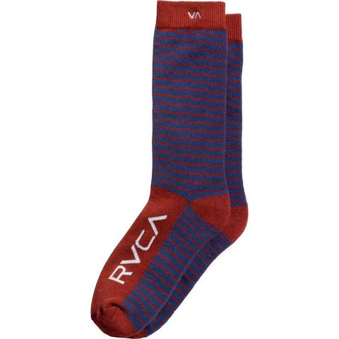 RVCA Makeshift Sock Navy Red