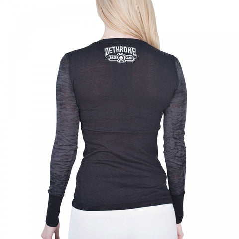 Dethrone Womens Basecamp Shadow Long Sleeve black
