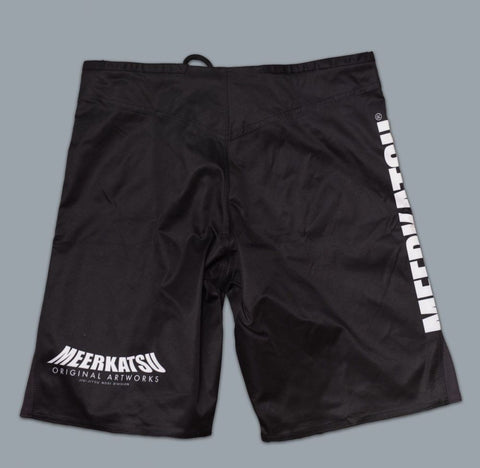 MEERKATSU DEMON MASK IBJJF SHORTS -BLACK