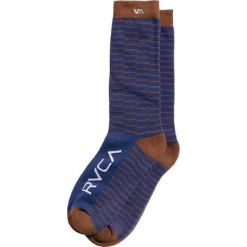 RVCA Makeshift Sock Brown Blue