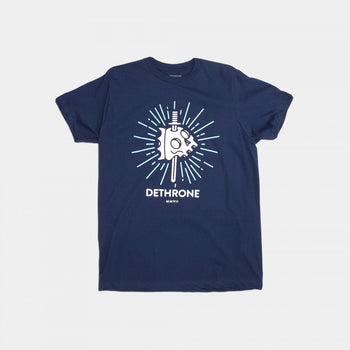 Dethrone Knife Skull Tee Navy