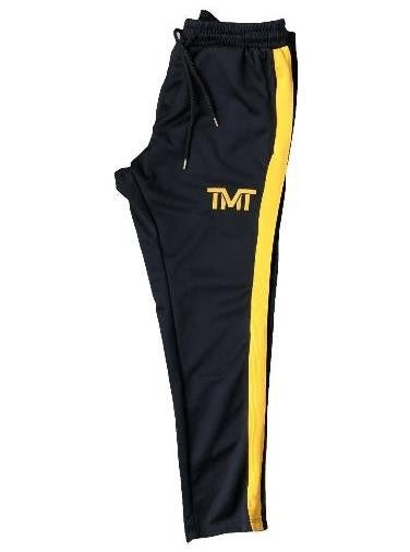 TMT MEN'S RETRO SKINNY JOGGERS BLACK AND RED