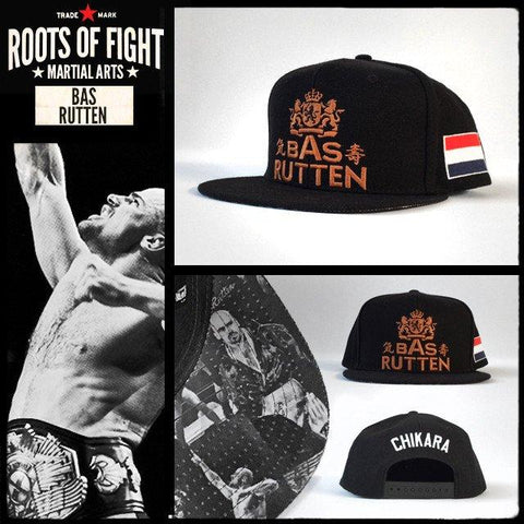 Roots Of Fight Bas Rutten Snapback Hat