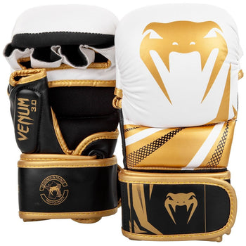 VENUM CHALLENGER 3.0 SPARRING GLOVES - White/Gold