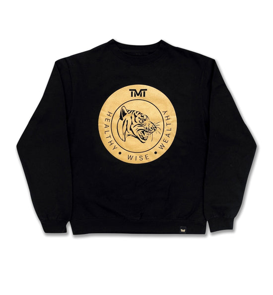 TMT WISE TIGER CREW SWEATSHIRT - BLACK