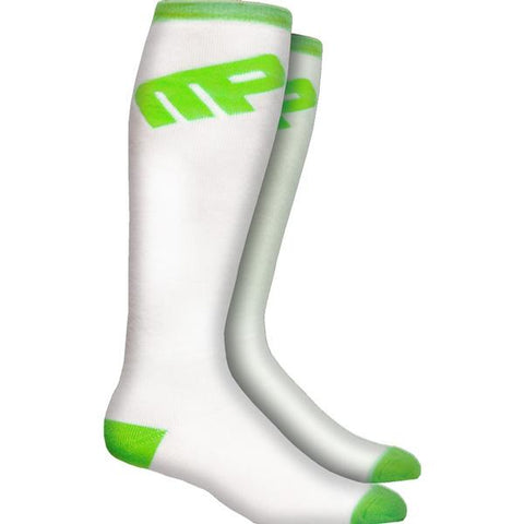 MusclePharm Knee Sock White