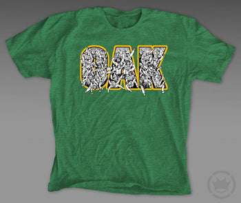 Dethrone Oak Tee Green