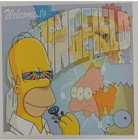 Welcome To Springfield Double Sided Blotter Art The Simpsons