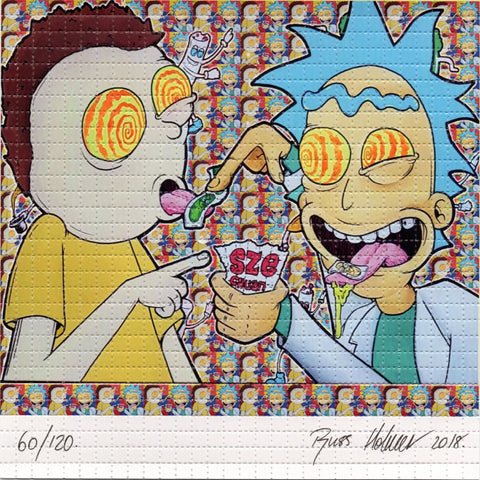 Eat The Acid Morty L.E. Signed by BOTH artists