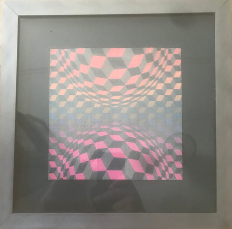 Op Art by Victor Vasarely (Directly from Mark McClouds Living Room Wall)