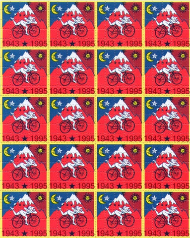 Albert Hofmann Bike Ride 1943 - 1995 Red 20 Panel