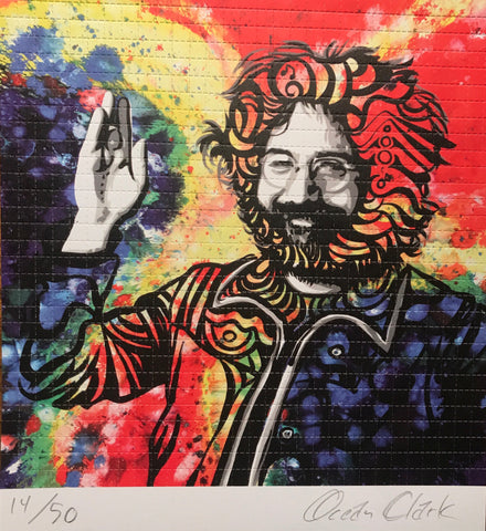 Jerry Garcia by Ocean Clark L.E. Signed and Numbered