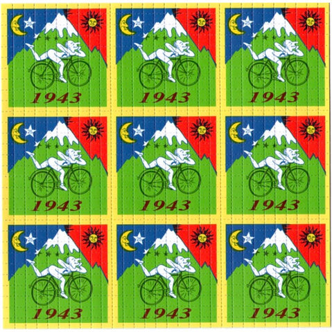 Albert Hofmann Bike Ride 1943 Green 9 Panel
