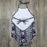 Retro Floral One Piece Swimsuit