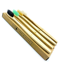 Load image into Gallery viewer, Eco-Friendly Bamboo Toothbrush set x 4