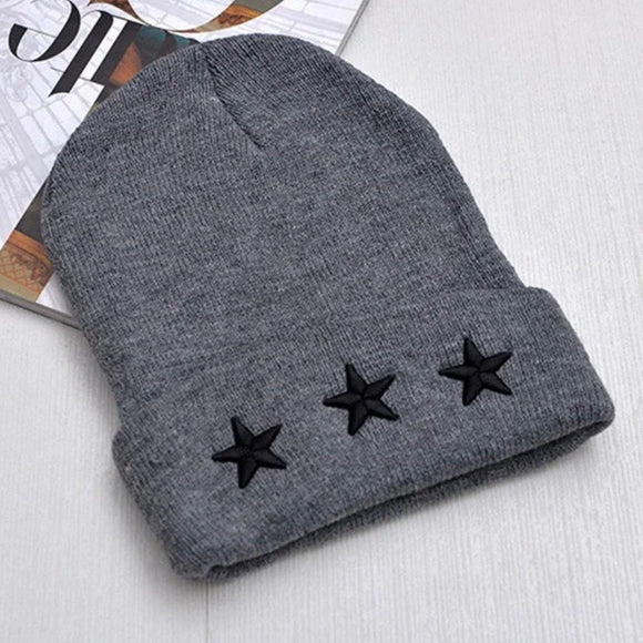 Triple star beanie - Grey