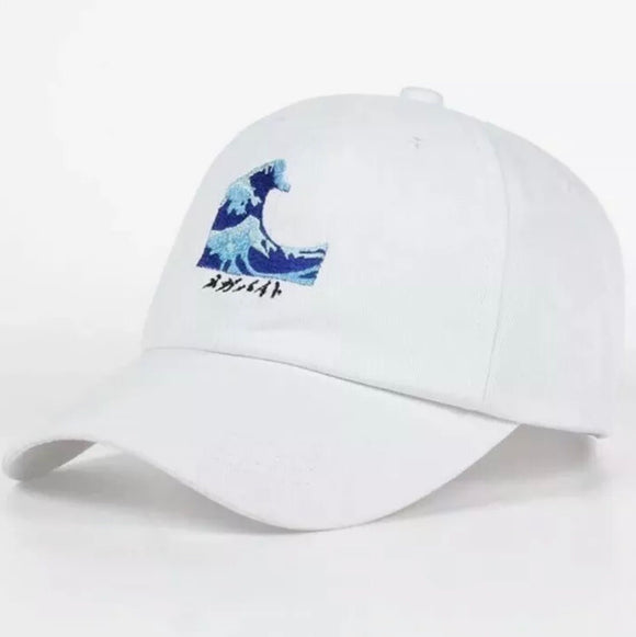 Wave dad hat - White