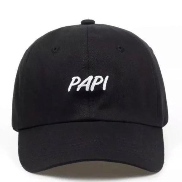 'PAPI' dad hat - black
