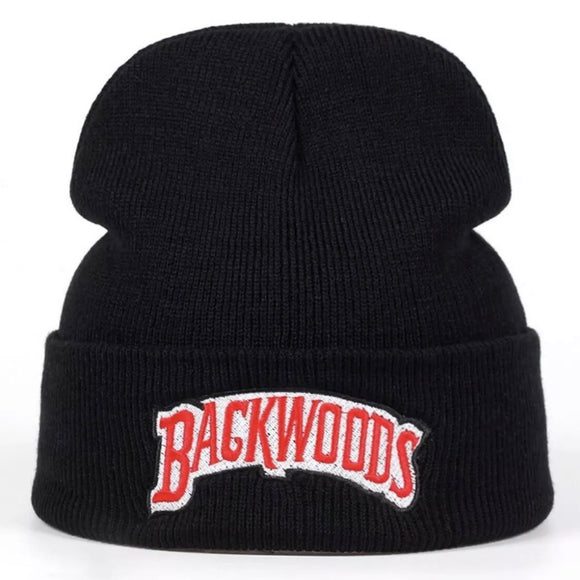 Backwoods beanie hat - black