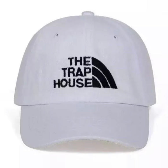 The trap house dad hat - White