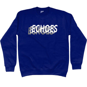 ECHOES repeat logo crew neck jumper - navy