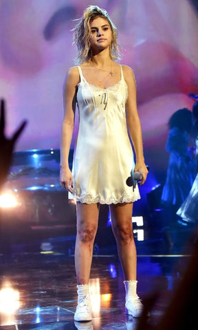 Selena Gomez Ama's Slip Dress