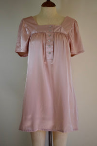 Vintage REpurposed Babydoll Dress - Champagne