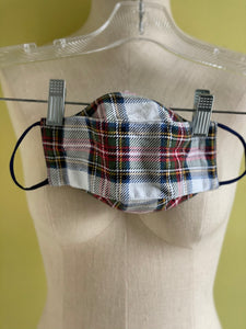 Flannel Plaid Face Mask with 100% cotton lining - 3 colors - Men's and Women's sizes