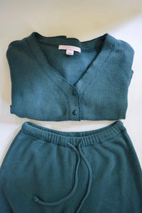 Vintage Victoria's Secret Waffle Knit Set - XS - Cropped Pajamas