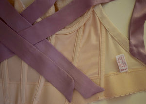 Vintage REpurposed Bustier - Ivory and Lavender
