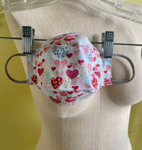 Heart Print Face Mask with 100% cotton