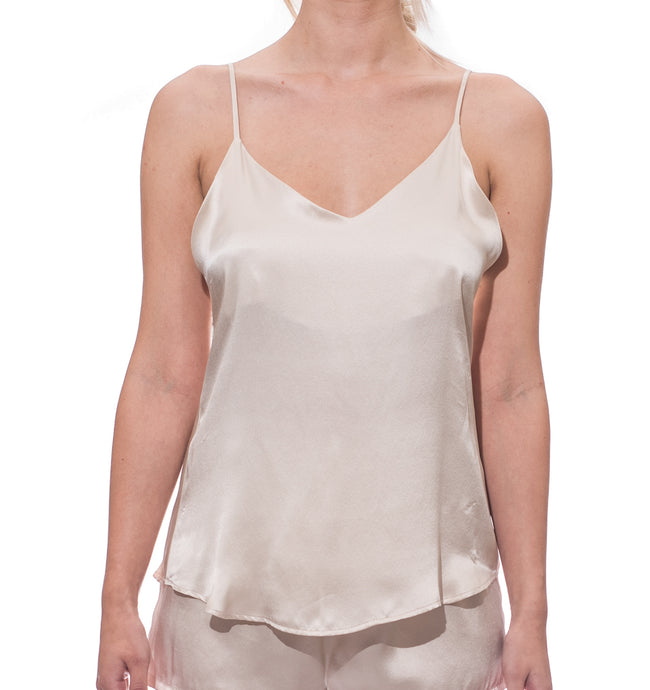 Cloud Silk Camisole -  Champagne