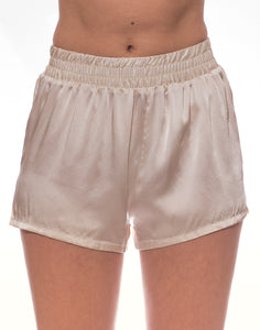 Cloud Silk Boxer Shorts - Champagne