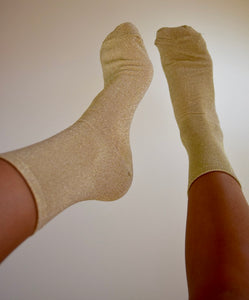Gold Glitter Socks