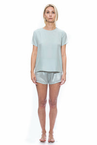Cloud Silk Boxer Shorts - Pastel Blue