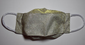 Silver Glitter Face Mask with 100% cotton lining (handmade)