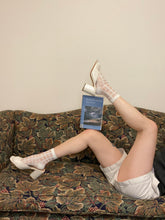 White Fashion Socks bookish