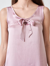 Mauve Silk Babydoll Dress with bow
