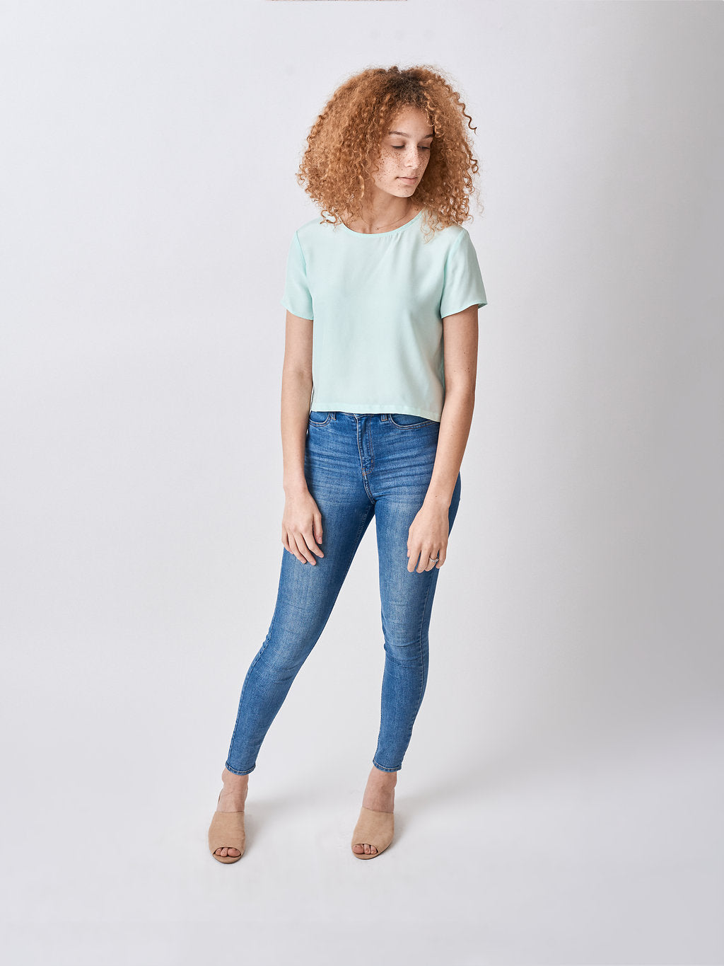 Silk Crop Top Mint Green