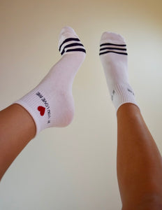 """If You Love Me"" Socks"