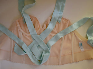 Vintage REpurposed Bustier - Ivory and Mint
