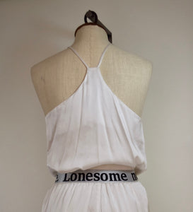 """Lonesome no more"" Silk Pajama set- M - REworked Vintage silk pajamas"