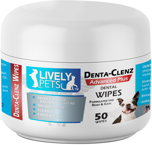 Denta-Clenz Dental Wipes for Dogs and Cats 50 ct | 1 Case (Qty 12) - LIVELY PETS ONLINE