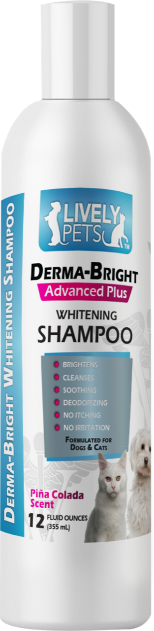 Derma-Bright Whitening Shampoo for Dogs and Cats 12 oz - LIVELY PETS ONLINE