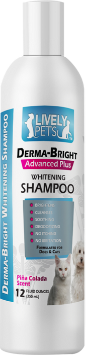 Derma-Bright Whitening Shampoo for Dogs and Cats 12 oz | 1 Case (Qty 12) - LIVELY PETS ONLINE